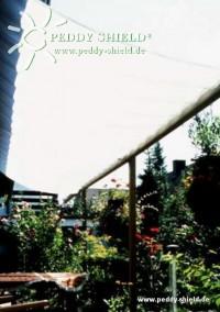 Sluneční plachta 420 x 140 cm, světle šedá