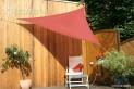 Trojuholníková slnečné plachta 3 x 3 x 3 m - tieniaci tkanina - farba terracotta