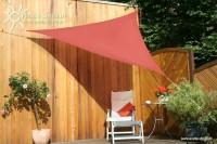 Trojúhelníková sluneční plachta 3 x 3 x 3 m – stínicí tkanina – barva terracotta
