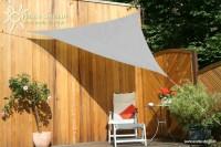 Trojúhelníková sluneční plachta 3 x 3 x 3 m – stínicí tkanina – barva šedá