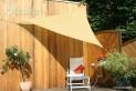 Trojuholníková slnečné plachta 3 x 3 x 3 m - tieniaci tkanina - farba okrová