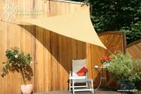 Trojúhelníková sluneční plachta 3 x 3 x 3 m – stínicí tkanina – barva okrová