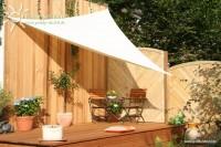 Trojúhelníková sluneční plachta 360 x 360 x 360 cm – stínicí tkanina – barva krémová bílá