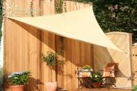 Trojúhelníková sluneční plachta 360 x 360 x 360 cm – stínicí tkanina – barva okrová