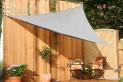 Trojuholníková slnečné plachta 360 x 360 x 360 cm - tieniaci tkanina - farba šedá