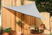 Trojúhelníková sluneční plachta 360 x 360 x 360 cm – stínicí tkanina – barva šedá