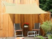Čtyřúhelníková sluneční plachta 2,5 x 3 m – stínicí tkanina – barva okrová