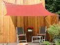Hranatejšiu slnečné plachta 2,5 x 3 m - tieniaci tkanina - farba terracotta 06-77-25-09