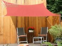 Čtyřúhelníková sluneční plachta 2,5 x 3 m – stínicí tkanina – barva terracotta