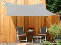 Čtyřúhelníková sluneční plachta 2,5 x 3 m – stínicí tkanina – barva šedá
