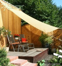 Čtyřúhelníková sluneční plachta 3,6 x 3,6 m – stínicí tkanina – barva okrová