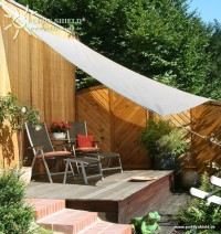 Čtyřúhelníková sluneční plachta 3,6 x 3,6 m – stínicí tkanina – barva šedá