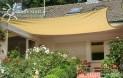 Hranatejšiu slnečné plachta 4 x 5 m - tieniaci tkanina - farba okrová