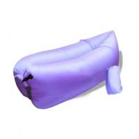 Nafukovací vak Duobed 250x100x50 cm světle fialový