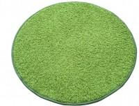 Kulatý koberec Color shaggy zelený průměr 120 cm