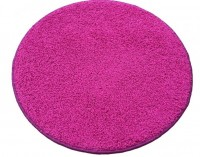 Kulatý koberec Color shaggy růžový průměr 120 cm