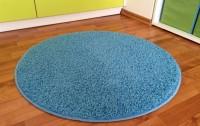 Kulatý koberec Color shaggy světle modrý průměr 120 cm