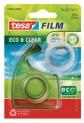 tesafilm EcoaClear, číra kancelárska páska s ručným odvíjačom, priehľadná, 33m x 19mm 57968-00000-00