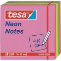 tesa Samolepiace poznámkové bločky Neon 320 listov, ružová, žltá, zelená, 75mm x 75mm 56684-00000-01