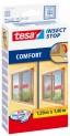 tesa Sieť proti hmyzu COMFORT na posuvné okná, biela, 1,2m x 1,4m 55188-00020-00