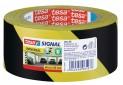 tesa Vyznačovacia páska PP pre dočasné značenie, žlto-čierne šrafovanie, 66m x 50mm 58133-00000-00
