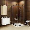 Štvorcový sprchovací kút rávač RV2 90 x 90 x 190 cm X1LV70C00Z1A