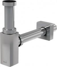 Umyvadlový designový sifon 5/4 čtyřhran bez vpusti Alcaplast A401