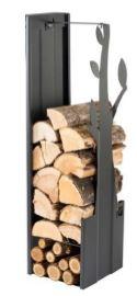 Zásobník na dřevo strom černý 270mm CAVERIO