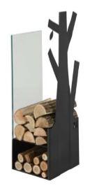 Zásobník na dřevo sklo černý 270mm CAVERIO