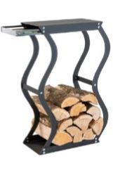 Zásobník na dřevo Zigzag se zásuvkou CAVERIO