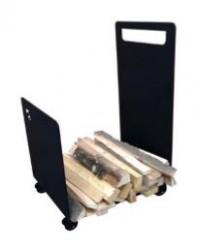 Zásobník na dřevo vozík s kolečky CAVERIO