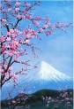 Cherry Blossom abstraktna olejomaľba plátno