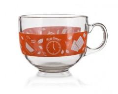 BANQUET Hrnek jumbo skleněný MALAGA Tea Time 435 ml