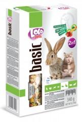 LOLO BASIC 2v1 zeleninové a ovocné krmivo pro hlodavce 340 g