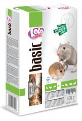 LOLO BASIC kompletní krmivo pro myši 500 g krabička