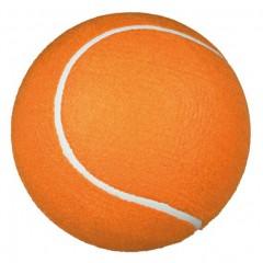 Obří tenisový míč s pumpičkou, oranžový 22 cm