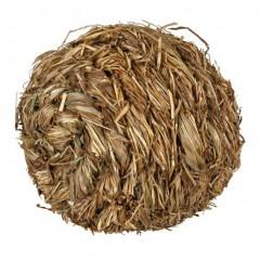 Míček s rolničkou z trávy 6 cm