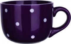 Hrnek 500 ml Jumbo fialový s puntíky 4052244
