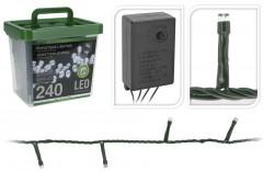 Světla vánoční 240 LED žárovek bílá vnitřní i venkovní v plastovém boxu 4261932
