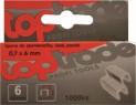 Spony do sponkovačky 6x0,7 mm 1000 ks pozink 1950266