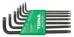 Fotogalerie: Sada zástrčných kľúčov torx TONA s otvorom 711T - 7 dielov