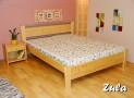 ZU-07 LA dřevěná postel SMRK vč. matrace a roštu