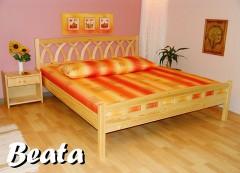 Fotogalerie: BEA-07 TA dřevěná postel SMRK vč. matrace a roštu