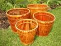 Bambusový obal na květináč set 4 ks