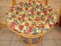 Papasan světlý  med 100 cm květinový polstr