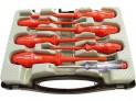 Elektrikárske skrutkovače sa skúšačkou, sada 7 ks Extol