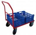 Vozík plošinový pre 2 plastové prepravky 51021.03
