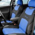 Poťah sedadla TRIKO predné 2ks modrý