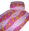 Obliečky bavlna do postieľky - Žirafa ružová 1x 90 / 130 , 1x 45 / 60