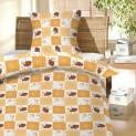Obliečky bavlna do postieľky - baránkovia hnedí 1x 90 / 130 , 1x 60 / 45